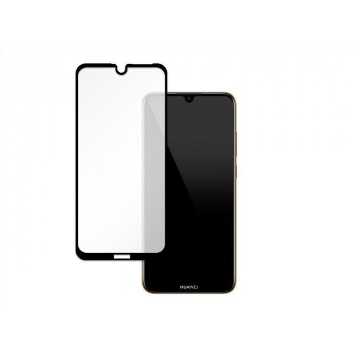 Folie protectie din sticla 3D securizata pentru Huawei Y6p, Full Screen, Full Glue, Negru