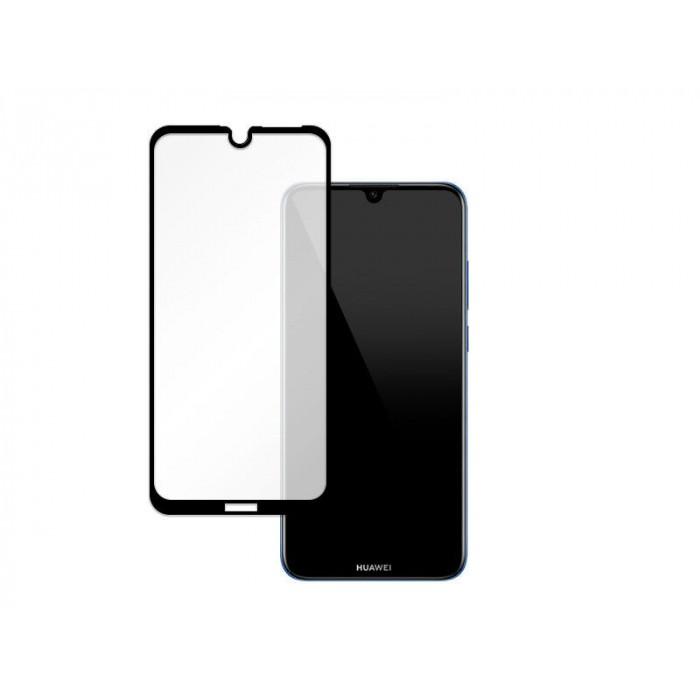 Folie protectie din sticla 3D securizata pentru Huawei Y6s, Full Screen, Full Glue, Negru