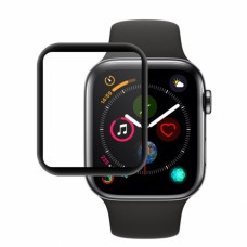 Folie protectie din sticla 3D securizata pentru Apple Watch Series 6, 44mm, Full Screen, Full Glue, Negru