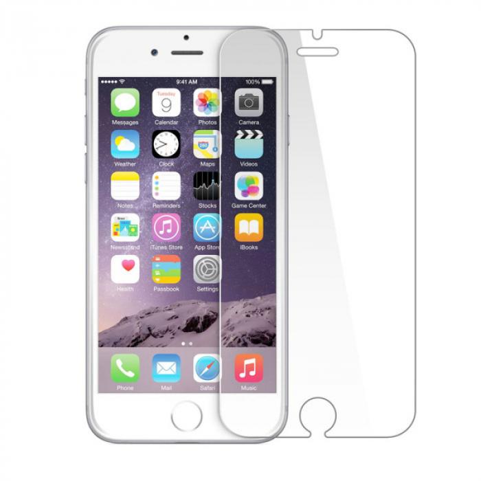 Folie protectie din sticla 2.5D securizata pentru Apple iPhone 6/6s, Transparenta