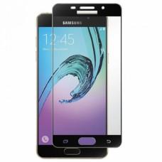Folie protectie din sticla 3D securizata pentru Samsung Galaxy A5 2016, Full Screen, Full Glue, Negru