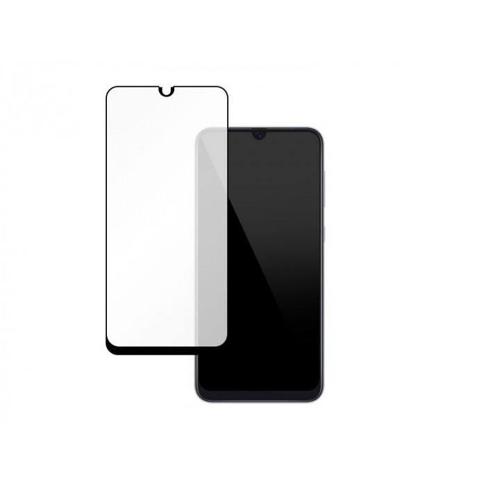 Folie protectie din sticla 3D securizata pentru Samsung Galaxy A50, Full Screen, Full Glue, Negru
