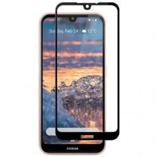 Folie protectie din sticla 3D securizata pentru Nokia 4.2, Full Screen, Full Glue, Negru