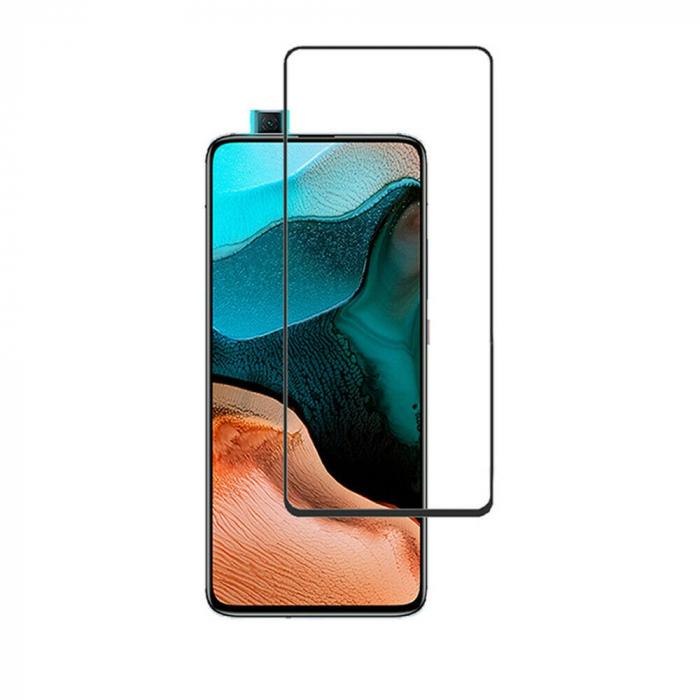 Folie protectie din sticla 3D securizata pentru Xiaomi Poco F2 Pro, Full Screen, Full Glue, Negru