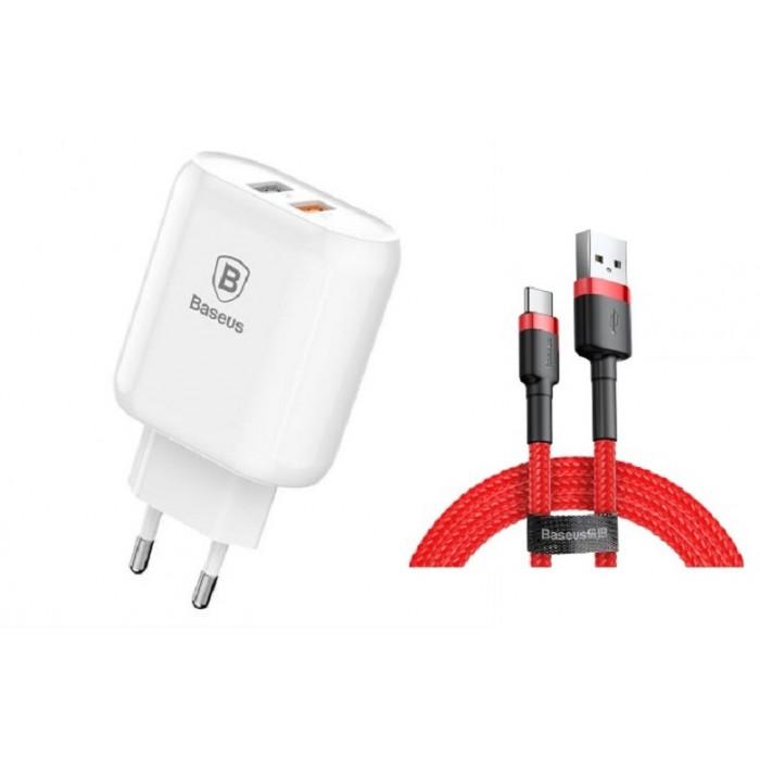 Incarcator Baseus Bojure Series 23W 2XUSB QuickCharge 3.0 cu cablu Type-C 3 A