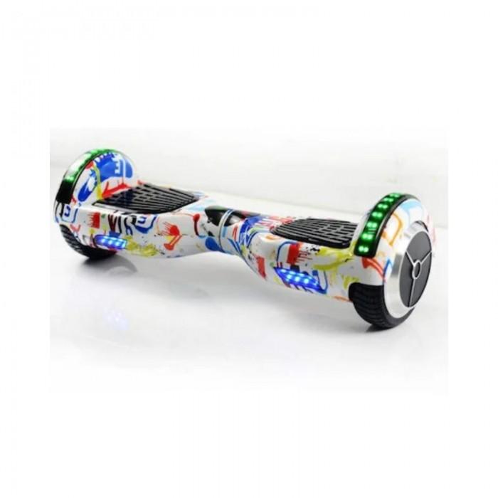 Scuter electric-Hoverboard 6.5 inch, Extreme Balance, Junior Graffiti,bluetooth,faruri frontale,geanta de transport,motor 700w.