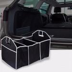 Organizator auto pliabil, 3 compartimente, buzunare exterioare