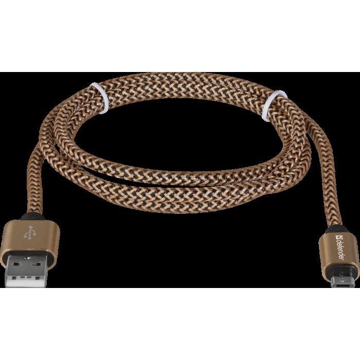 CABLU DATE MICRO USB DEFENDER USB08-03T PRO 2.1A 1M AURIU