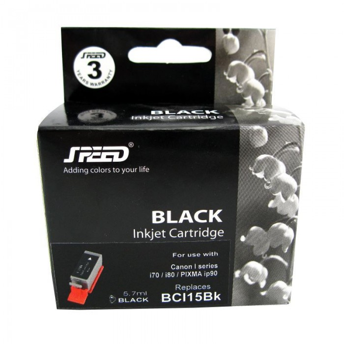Cartus cerneala compatibil cu Canon BCI15 black,BCI-15B