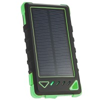 Acumulator extern solar 8000mAh, LED, Green