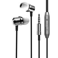 Casti audio stereo cu microfon metalice, 3.5mm, Controller volum, Magnetice, Negru