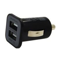 Incarcator auto USAMS cu dublu mufa USB, 3.1A, Negru