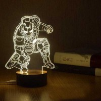 Lampa cu LED tip 3D Movie Character, Alb