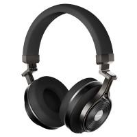 Resigilat Casti Stereo Wireless Bluedio T3 v3, Bluetooth, 3D + HiFi Sound, Extra Bass, Piele, Structura metalica, Negru