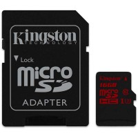 Card MicroSDHC Kingston 16GB + adaptor/cititor SD