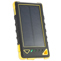 Resigilat Acumulator extern solar 8000mAh, LED, Yellow