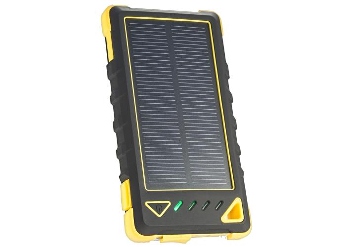 Resigilat Acumulator extern solar 8000mAh, LED, Yellow