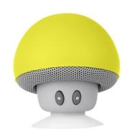 Boxa portabila Mushrooms, Bluetooth, AUX, Microfon, Galben