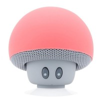 Boxa portabila Mushrooms, Bluetooth, AUX, Microfon, Pink