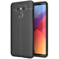 Husa de protectie Leather pentru LG G6, Negru