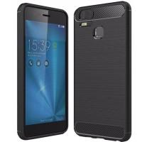 Husa Carbon pentru Asus Zenfone 3 Zoom (ZE553KL), Negru