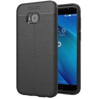 Husa de protectie Leather Asus Zenfone 4 Selfie Pro (ZD552KL), Negru