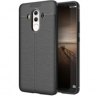 Husa de protectie Leather Huawei Mate 10, Negru