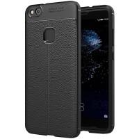Husa de protectie Leather Huawei P10 Lite, Negru