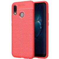 Husa de protectie Leather Huawei P20 Lite, Red