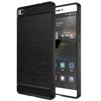 Husa Carbon Huawei P8 Lite, Negru