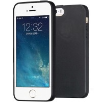 Husa silicon slim iPhone 5 / iPhone 5S, Black Matte