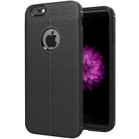 Husa de protectie Leather iPhone 6 Plus / iPhone 6S Plus, Negru