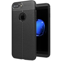 Husa de protectie Leather iPhone 7 Plus / iPhone 8 Plus, Negru