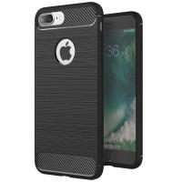 Husa Carbon iPhone 7 Plus / iPhone 8 Plus, Negru