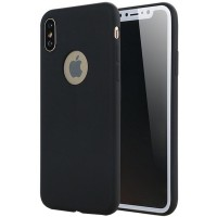Husa silicon slim iPhone X / XS, Black Matte