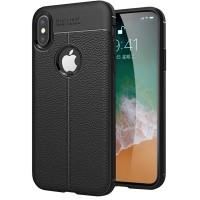 Husa de protectie Leather iPhone X (10), Negru