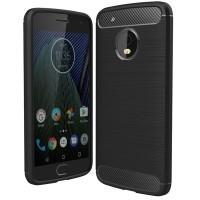 Husa Carbon Motorola Moto G5 Plus, Negru