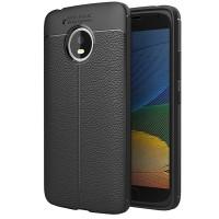 Husa de protectie Leather Motorola Moto G5, Negru