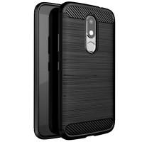 Husa Carbon Motorola Moto M, Negru