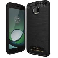 Husa Carbon Motorola Moto Z Play, Negru