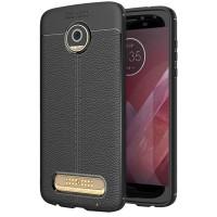 Husa de protectie Leather Motorola Moto Z2 Play, Negru