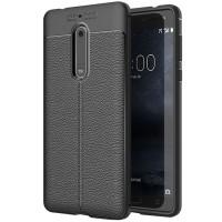 Husa de protectie Leather Nokia 5, Negru