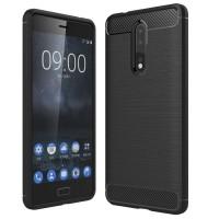 Husa Carbon Nokia 8, Negru