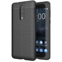 Husa de protectie Leather Nokia 8, Negru