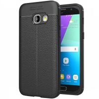 Husa de protectie Leather Samsung Galaxy A7 (2016), Negru