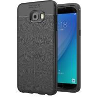 Husa de protectie Leather Samsung C5 Pro, Negru