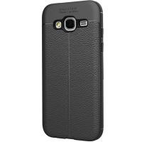 Husa de protectie Leather Samsung Galaxy J2 Prime, Negru
