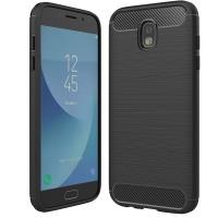 Husa Carbon Samsung Galaxy J3 (2017) / J3 Pro, Negru