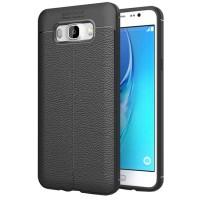 Husa de protectie Leather Samsung Galaxy J5 (2016), Negru