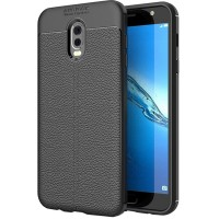 Husa de protectie Leather Samsung Galaxy J7 Plus, Negru